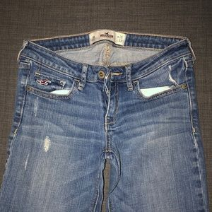Hollister Jeans - A pair of ripped bootcut jeans